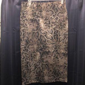 New York clothing Co snake skin print skirt